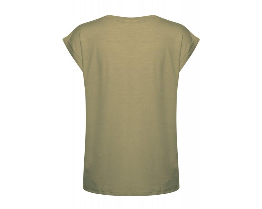 dame t-shirt army grøn saint tropez
