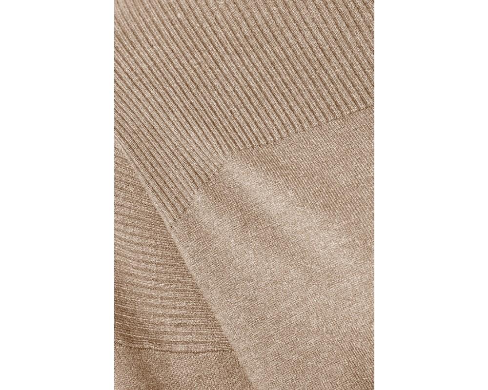 strik pullover grå saint tropez
