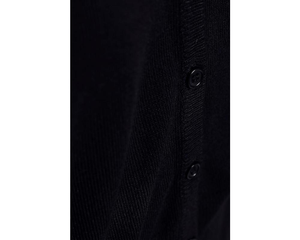 strik cardigan med v-hals sort saint tropez