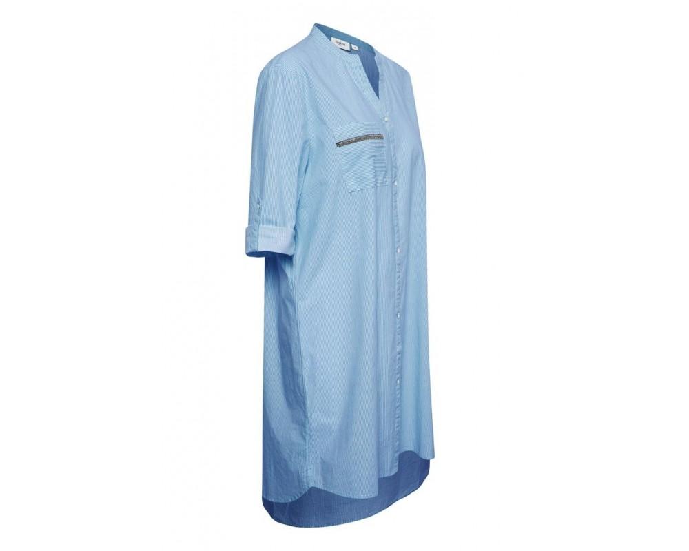 tunika stribet blå saint tropez