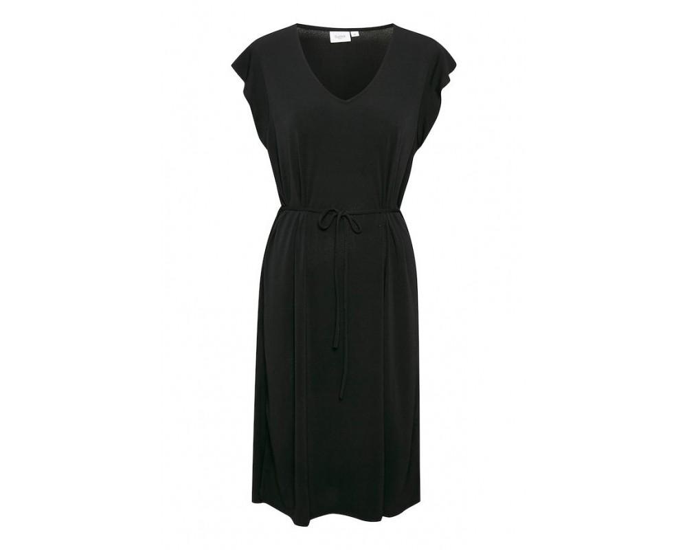 knælang sort kjole saint tropez
