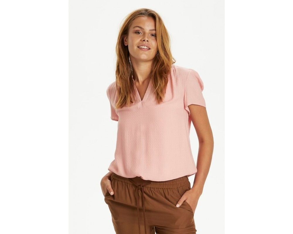 kortærmet bluse rosa saint tropez