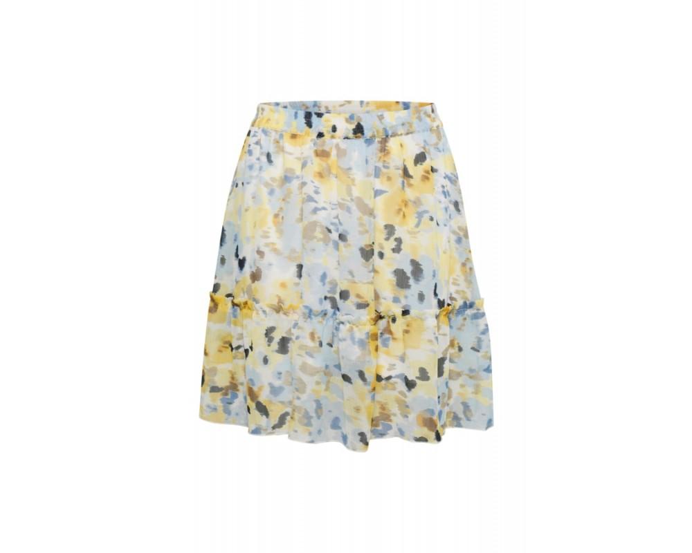 kort nederdel blå gul saint tropez