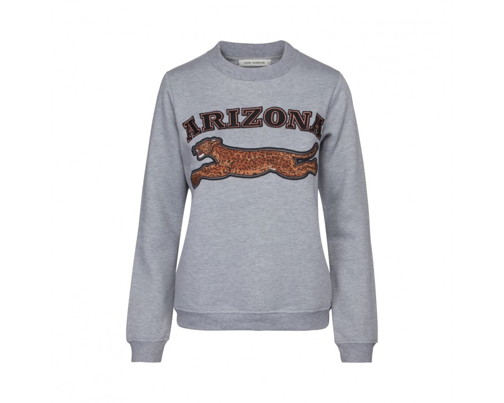 Sweatshirt Sofie schnoor grå med print
