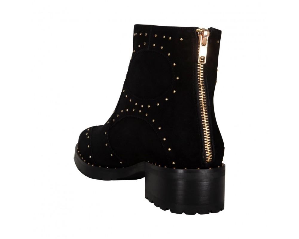 sofie schnoor støvle sort med gulddetaljer
