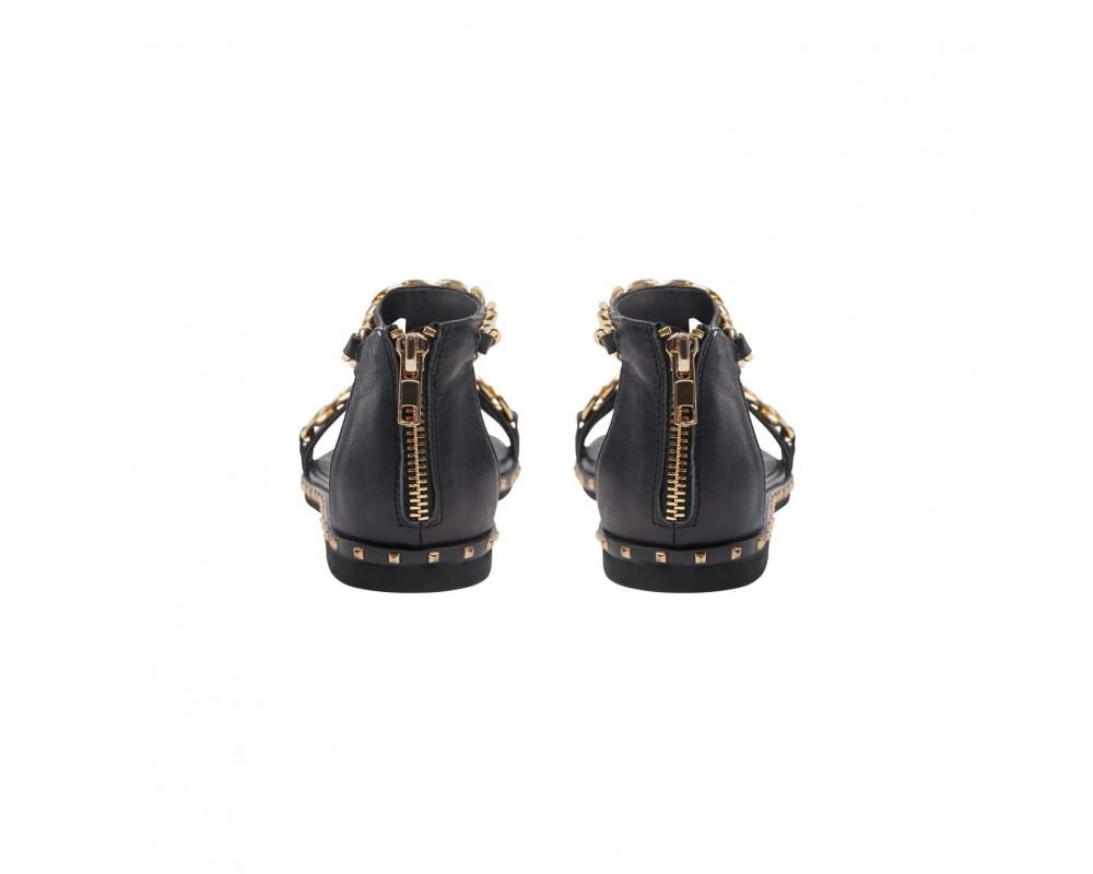 sort sandal med guld sofie schnoor