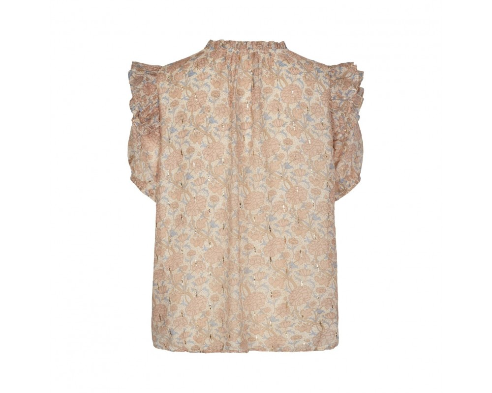 kortærmet bluse rosa sofie schnoor