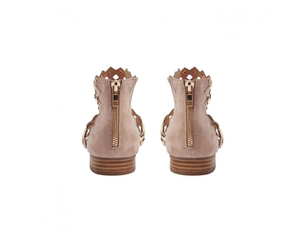 sandal rosa med guldnitter sofie schnoor