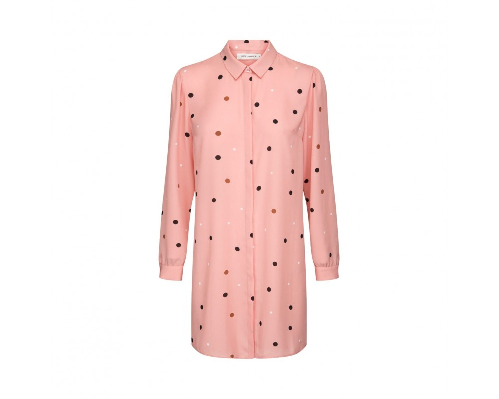 lang skjorte rosa sofie shnoor