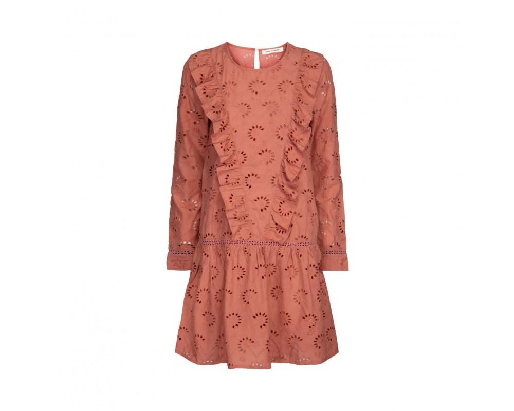 rosa kjole broderi angalise sofie schnoor