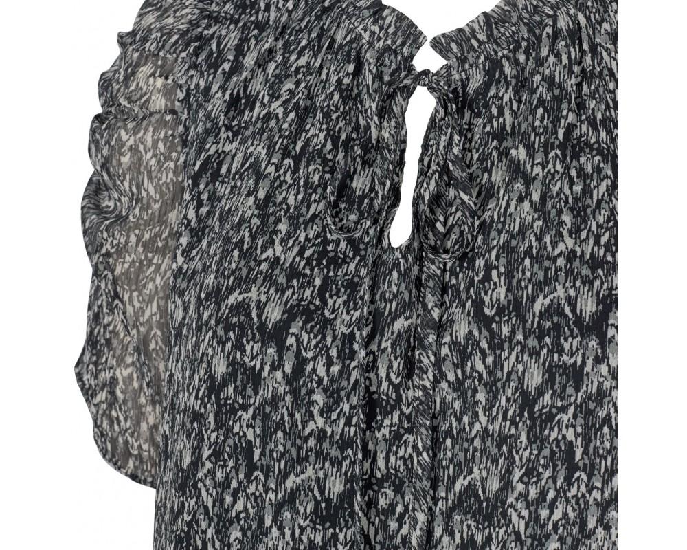 bluse sort grå sofie schnoor