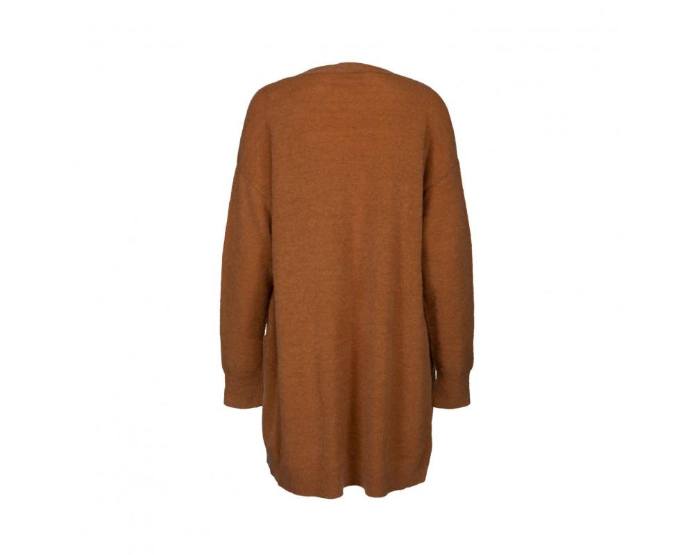 lang cardigan brun sofie schnoor