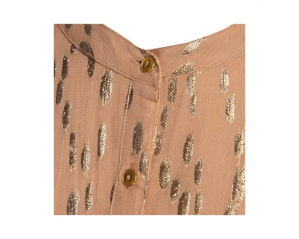 sofie schnoor mali kjole camel m guldmønster