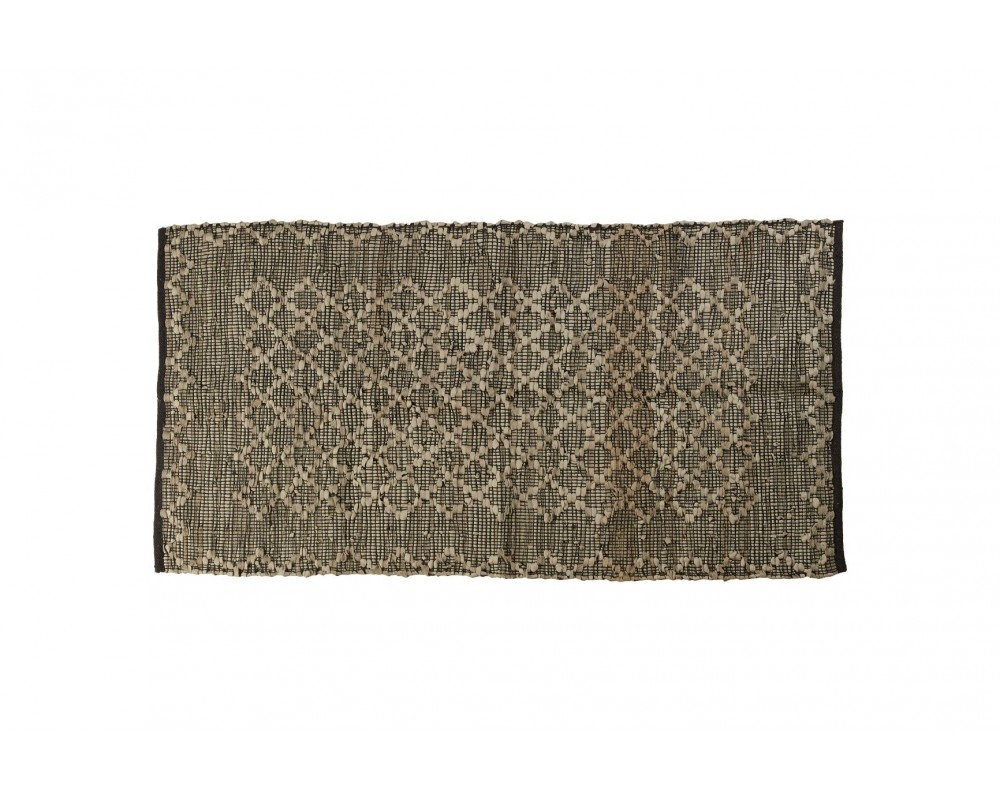 tæppe i læder grå speedtsberg