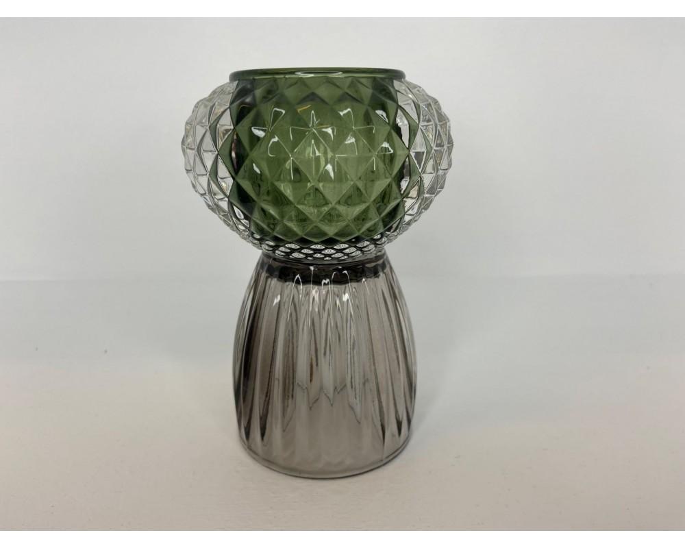 fyrfadsstage grå grøn speedtsberg