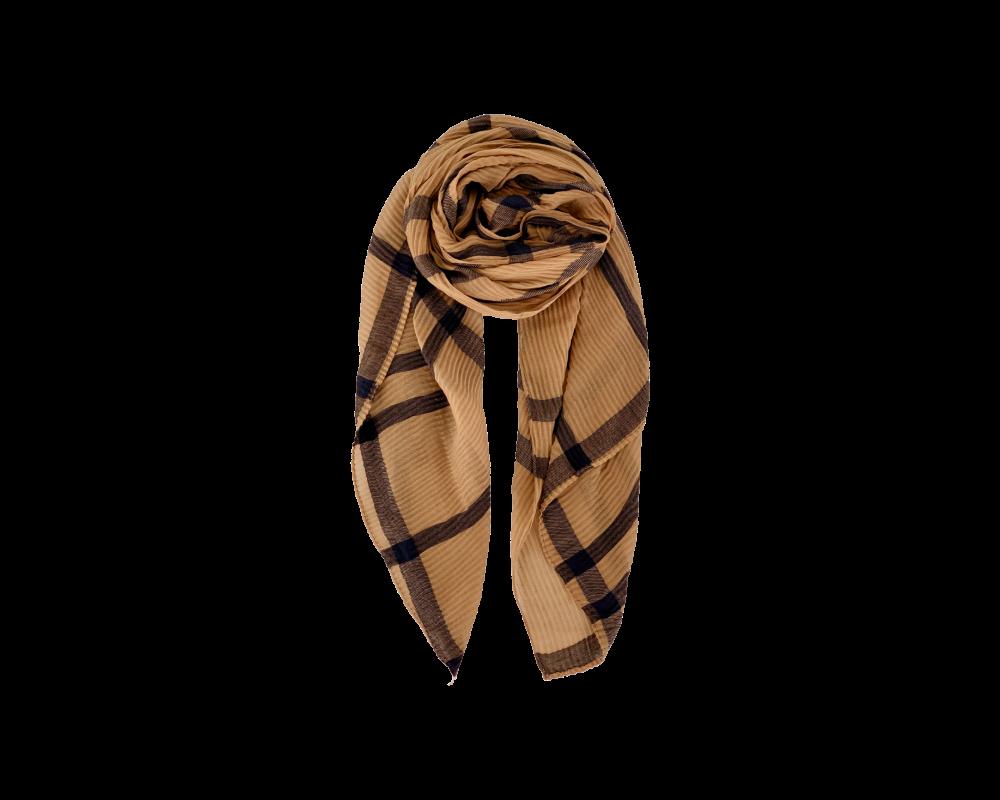 tørklæde brunt black colour