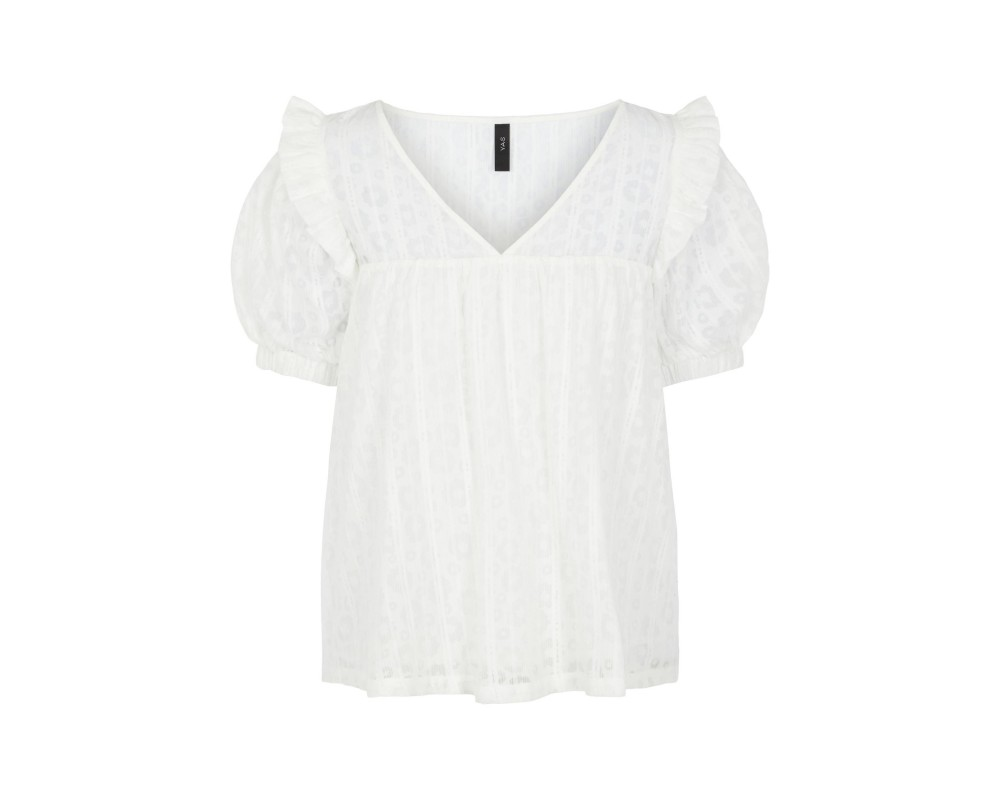 bluse med blomsterprint off white yas