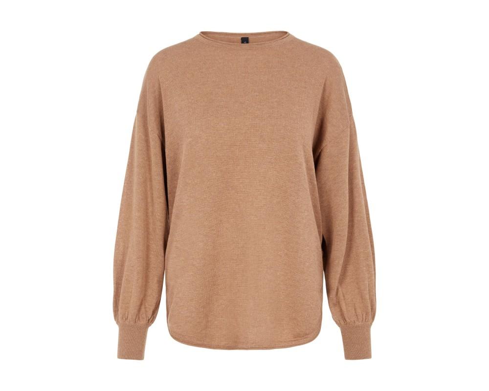 strik pullover brun yas