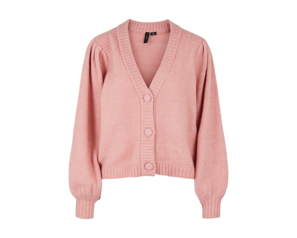rosa strik cardigan yas