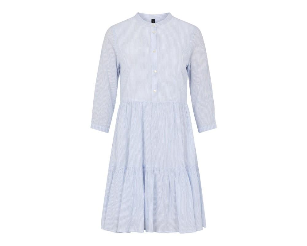 kort stribet kjole hvid og blå yas