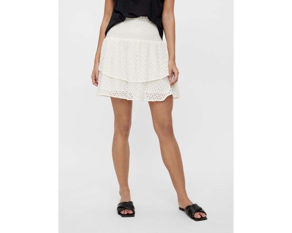 kort nederdel hvid yas