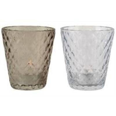 Fyrfadsstager Glas 2 Ass.-31