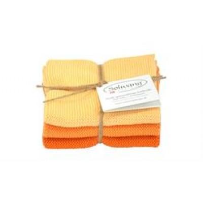 Solwang Design 3 stk. karklude i orange kombination-31