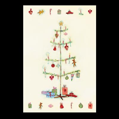 Maileg Julekort Juletræ, dobbeltkort-31