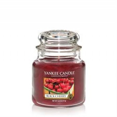 Yankee Candle Black Cherry Glas Medium.-31
