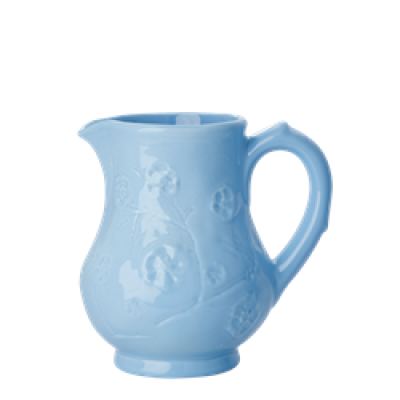 Rice Lyseblå Keramikkande med blomstermønster.-31