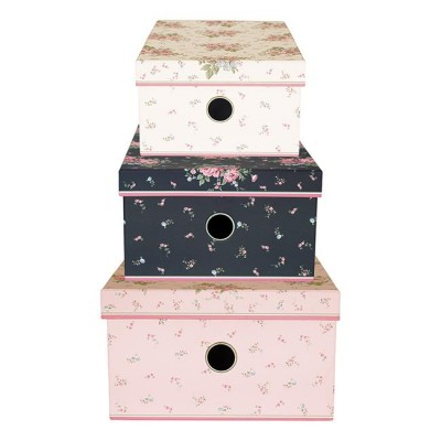 GreenGate Storage box sæt á 3 Marley pale pink-31