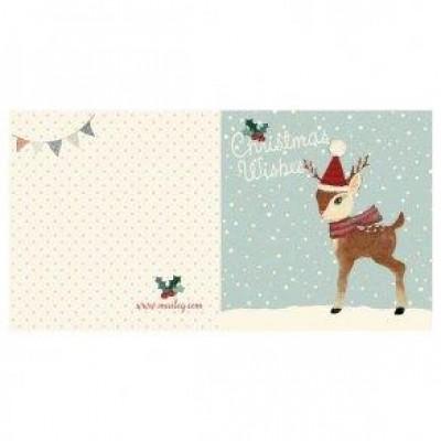 Maileg Julekort Bambi, dobbelt kort-31