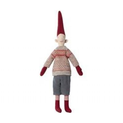 Maileg Mini Pixy Dreng m/ rødt mønster-31