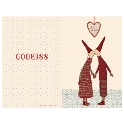 Maileg Julekort Coo-kiss, lille dobbelt kort-31