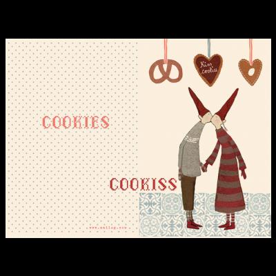 Maileg Julekort Coo-kiss, dobbelt kort-31