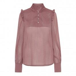 rosa bluse med prikker continue