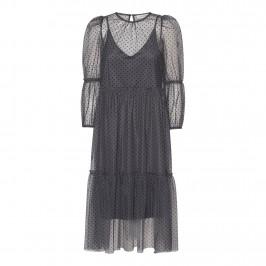 grå prikket kjole continue