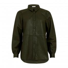 læderskjorte jakke army grøn coster copenhagen
