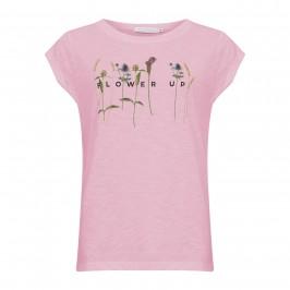 dame t-shirt m. print lyserød coster copenhagen