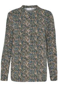 langærmet bluse blomsterprint saint tropez