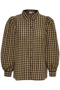 skjorte ternet sort og brun saint tropez
