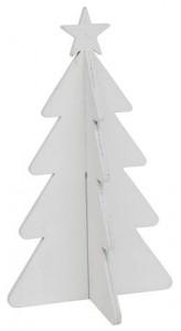 Ib Laursen Juletræ med stjerne Hvid 12 cm-20