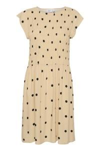 kort kjole beige prikker saint tropez