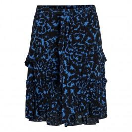 midi lang nederdel sort og blå co couture