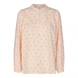 langærmet damebluse off white pink co couture