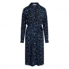 kjole midilang sort og blå co couture