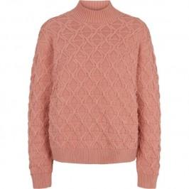 kabel strik lyserøde basic apparel