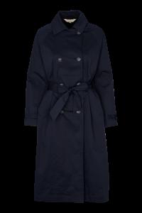 trenchcoat dame jakke navy basic apparel