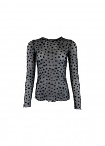 sort mesh bluse black colour