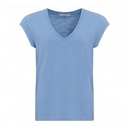 dame t-shirt m. v-hals blå coster copenhagen